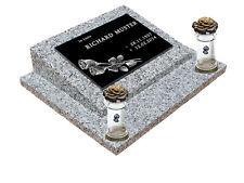 Gedenkplatte Grabstein Gedenktafel mit Wunschtext in Schiefergravur Motiv E1-3