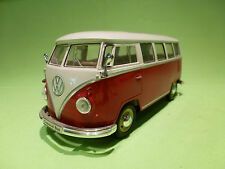 WELLY 2095 VW VOLKSWAGEN  T1 BUS  1962 - CLASSICAL BUS - IN NEAR MINT CONDITION
