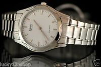 MTP-1275D-7A White Casio Men's Watch Stainless Steel Analog Water Resistant New