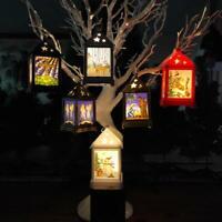Christmas Ornaments LED Tea Light Candlestick Tower Lantern Lamp Courtyard Decor