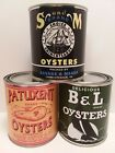 VINTAGE OYSTER CANS - B&L - PATUXENT - S and M Brand ( set of 3 - 1 qt. cans )