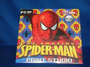 AMAZING SPIDER-MAN PRINT STUDIO,PC DVD ROM FROM DELL NEW IN SEALED PACKAGE