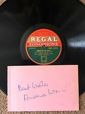 Anona Winn  - Autograph With Rare 78 (1934) . This Little Piggie Went to Market