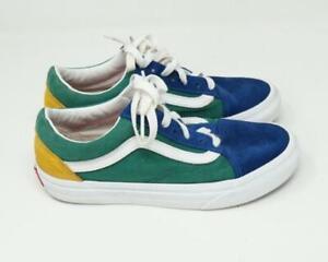 VANS Old Skool Cordones Zapatillas Ante Azul/Verde/Amarillo US Hombre 4 / Mujer