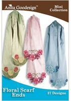Anita Goodesign Floral Scarf Ends Embroidery Machine Design CD NEW 108MAGHD
