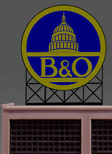 MILLER ENGINEERING B&O SUPER ANIMATED NEON LIGHT SIGN HO/O SCALE train 88-2701