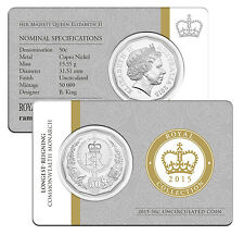 2015 50 Cents QEII LONGEST REIGNING MONARCH Uncirculated
