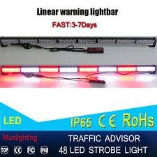 "48 Led 47"" Flash Traffic Advisor Safety Emergency Warning Strobe Light Red White"