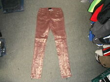 "Limited Edition Atmosphere Jeans Size 8 Leg 32"" Faded Maroon & Gold Ladies Jeans"