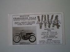 advertising Pubblicità 1973 MOTO MONTESA CAPPRA 125 HX