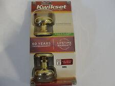 New Kwikset Hall & Closet Door Knob, Polished Brass 720J-3-CP