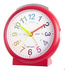 Acctim Lulu 2 Timeteacher Dial Red Silent Sweep Kids Alarm Clock 15214