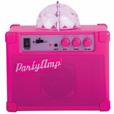 More details for fizz creations party amp speaker, amplifier with rotating disco led lights-pink