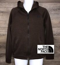 The North Face Men's Brown Full-Zip Hoodie w 2 Zip Pockets Logo on Chest Small