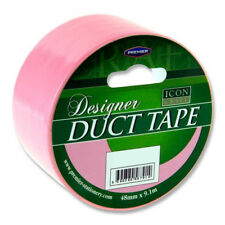 Six Rolls (6) of Duct Tape 48mm X 9.1m Bright Colour Duck Gaffa Gaffer Craft Tap