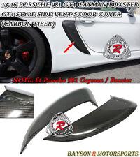 GT4-Style Side Air Dam Scoop Vents (Carbon) Fit 13-16 Porsche Boxster Cayman 981