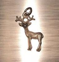 Deer Charm Vintage Sterling Silver