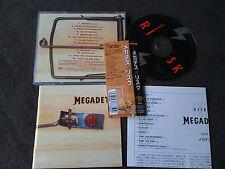 MEGADETH / risk / JAPAN LTD CD OBI bonus track