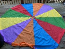 Gymboree 10 ft Multicolor Play Parachute Playchute with Handles NO BAG