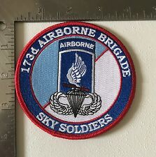 US ARMY 173rd AIRBORNE BRIGADE COMMEMORATIVE PATCH