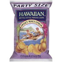 HAWAIIAN Potato Chips Sweet Maui Onion Crispy & Crunchy 2 x 16 oz Kettle Style
