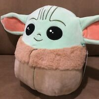 "Rare New Star Wars The Mandalorian The Child Baby Yoda 10"" Squishmallow Plush"