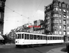 PHOTO  BELGIUM TRAMS 1959 BRUXELLES PLACE VERBOECKHOVEN STIB  TRAM NO 1232/942 O