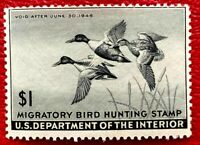 1945 US Federal Duck Stamps SC#RW12 Mint NH/OG Well Centered CV:$100