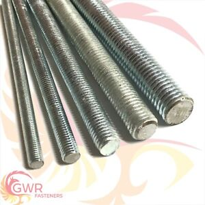 6mm 8mm 10mm 12mm to 24mm THREADED BAR 8.8 High Tensile Zinc Rod Studding Stud