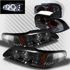 For Smoke 94-95 Ford Mustang Halo LED Pro Headlights+Tail Lamp Head Lights