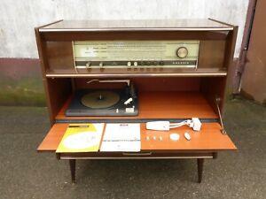 alter Musik Schrank Truhe Box Grundig como d Plattenspieler Radio