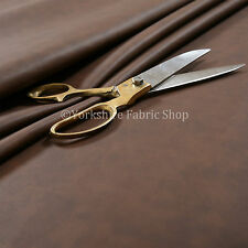 Aged Heritage Look Faux Suede Leatherette Material Upholstery Fabric New Brown