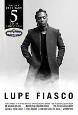 LUPE FIASCO 2016 NEW YORK CITY CONCERT TOUR POSTER - Hip Hop, Rap Music