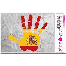 Pegatinas-España Spain-mano-bandera-bumper sticker car Flag bandera-mano