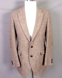 vintage EUC Stafford Harris Tweed 100% Wool Barleycorn Blazer Sportcoat 40 R