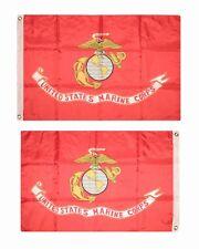 2x3 Marines Usmc Corp Ega Double Face 210D Nylon Drapeau 0.6mx3 'Coffret Cadeau