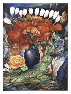 Ernst Fuchs - Bouquet - Giclee auf Leinwand - handsigniert und nummeriert