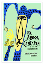 "Cuban movie Poster""El arbol CANTARIN.Blue Jester""Expressionism art.Children"