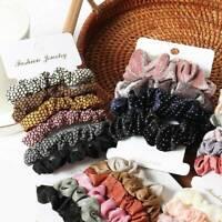 Women Colorful Hair Scrunchies Hair Bands Scrunchy Hair Ties Ropes Accessories