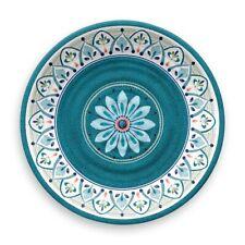 """New listing Moroccan Medallion Blue Melamine 10.25"""" Dinner Plates Set of 4"""