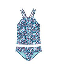 Vineyard Vines Girls Reversible Swim Whales Tankini Top and Bottom Bikini Set S