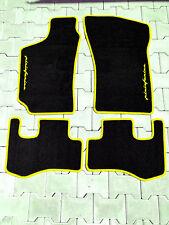 Fußmatten für Fiat Coupe 4-teilig gelbem Rand und Logo Pininfarina Autoteppiche