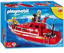 Playmobil City Action 3128 Feuerwehrlöschboot avec Pompe -