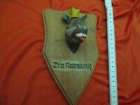 Dem Rattenkönig alter Ehrenpreis aus Holz Kegeln Bowling