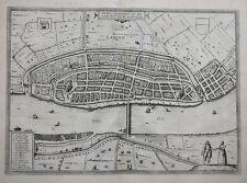 NIEDERLANDE HOLLAND OVERIJSSEL KAMPEN URBIS CAMPENSIS BRAUN HOGENBERG 1581