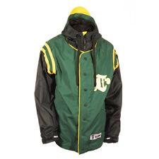 New 2015 Technine Mens Throwback Snowboard Jacket Small Green Black Yellow
