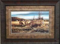 Terry Redlin Sharing the Bounty Deer Pheasant Print-Framed