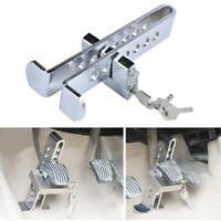 Car Stainless Brake Clutch Pedal Lock Steering Wheel Locks Security Anti-Thef