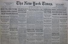 4-1931 APRIL 3 MANAGUA QUAKE TOLL RISES TO 2000. CUBA TRUCE. BATTLESHIP SIZE CUT