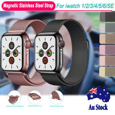 For Apple Watch Wrist Band Series 6 5 4 3 2 1 SE Magnetic Stainless Steel Strap